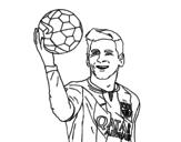 Dibujo de Lionel Messi para colorear