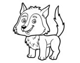 Dibujo de Lobo joven para colorear