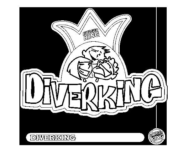 Dibujo de Logo Diverking para Colorear