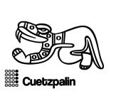 Dibujo de Los días aztecas: el lagarto Cuetzpalin para colorear