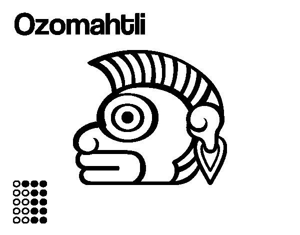 Dibujo de Los días aztecas: el mono Ozomatli para Colorear