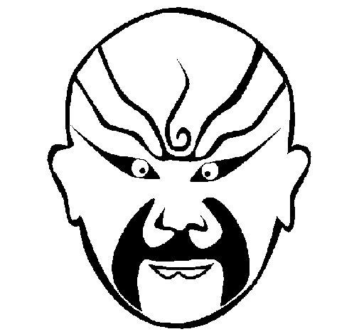 Dibujo de Luchador oriental para Colorear