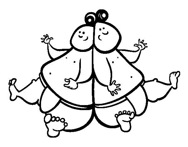 Dibujo de Luchadores de sumo para Colorear