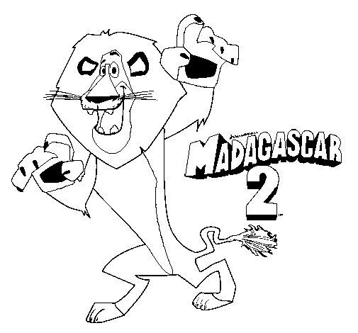 Dibujo de Madagascar 2 Alex 1 para Colorear
