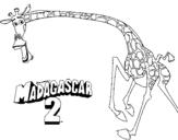 Dibujo de Madagascar 2 Melman 2 para colorear