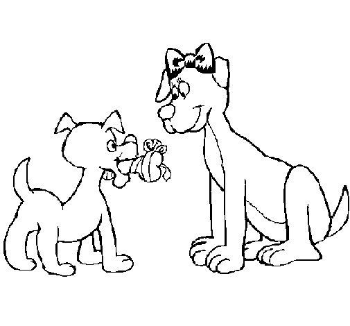 Dibujo de Mama perra para Colorear