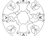 Dibujo de Mandala 10 para colorear