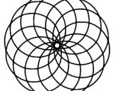 Dibujo de Mandala 4 para colorear