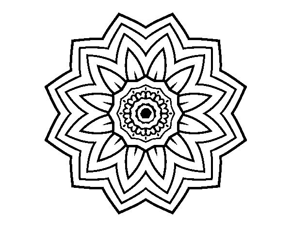 Imagenes Mandala Para Colorear 83: Dibujo De Mandala Flor De Girasol Para Colorear