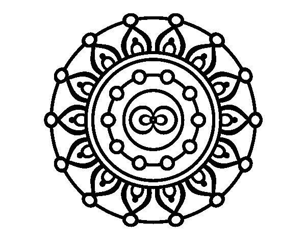 Dibujo de Mandala meditación para Colorear