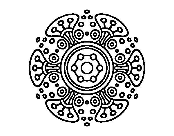 Dibujo de Mandala mundo lejano para Colorear