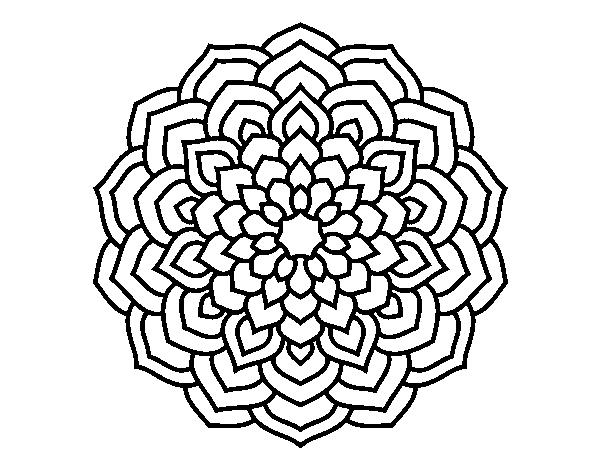 Worksheet. Dibujo de Mandala ptalos de flor para Colorear  Dibujosnet
