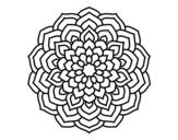 Dibujo de Mandala pétalos de flor para colorear