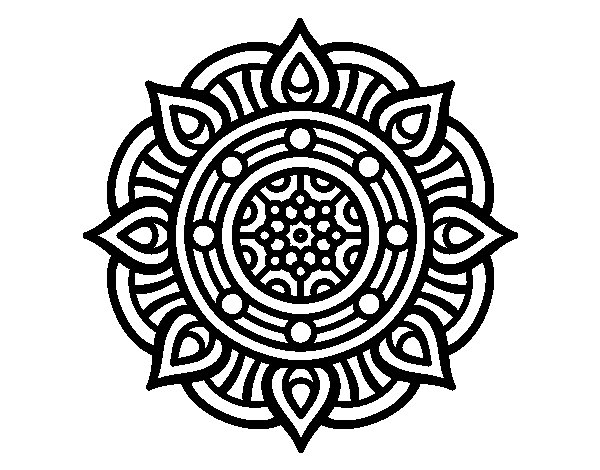 Dibujo de Mandala puntos de fuego para Colorear  Dibujosnet
