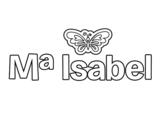 Dibujo de Maria Isabel para colorear