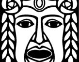 Dibujo de Máscara Maya