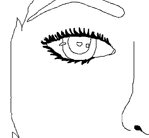 Dibujo de Media cara para Colorear  Dibujosnet