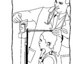 Dibujo de Medir la estatura para colorear