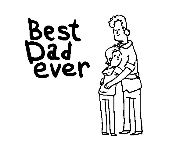 Dibujo de Mejor Papá del Mundo para Colorear