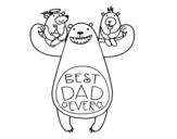 Dibujo de Mejor papi del mundo para colorear
