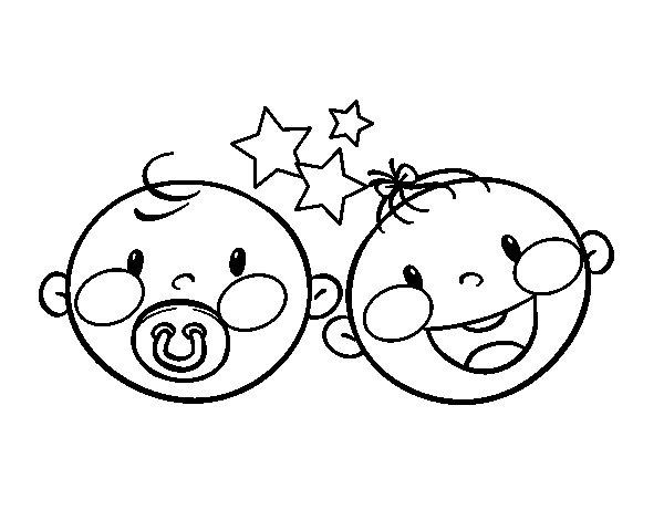 Dibujo de Mellizos para Colorear