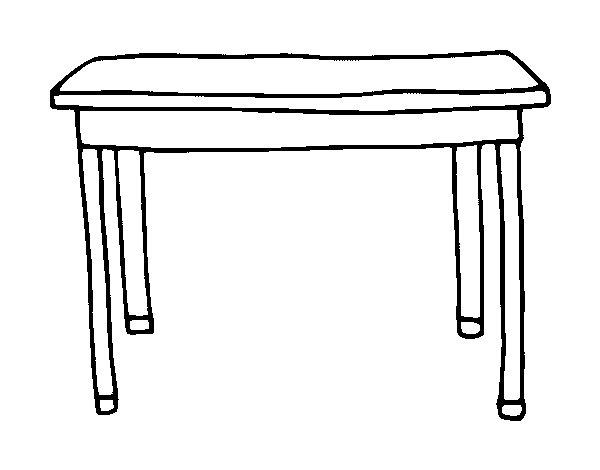 Dibujo de mesa rectangular para colorear - Mesas para dibujar ...