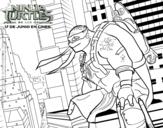 Dibujo de Michelangelo de Ninja Turtles para colorear