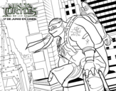 Dibujo de Michelangelo de Ninja Turtles
