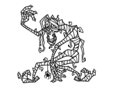 Dibujo de Momia malvada para colorear