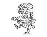 Dibujo de Momia Tutankamón para colorear