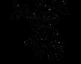 Dibujo de Mono colgado para colorear