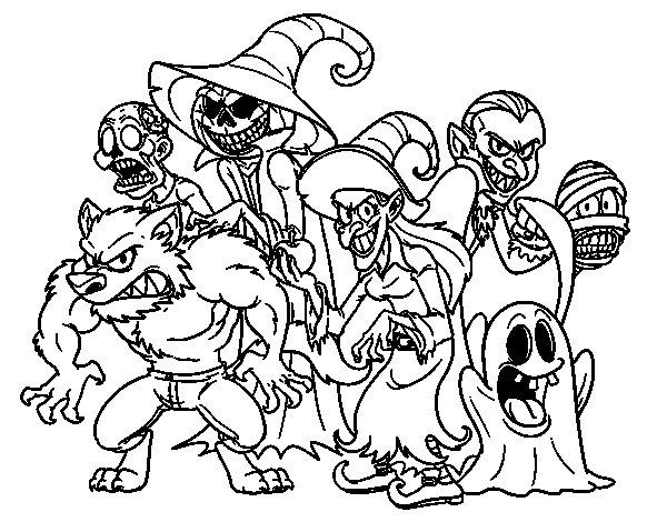 Halloween colorear - Dibujos de halloween ...