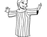 Dibujo de Muchacha maya para colorear