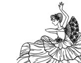 Dibujo de Mujer flamenca