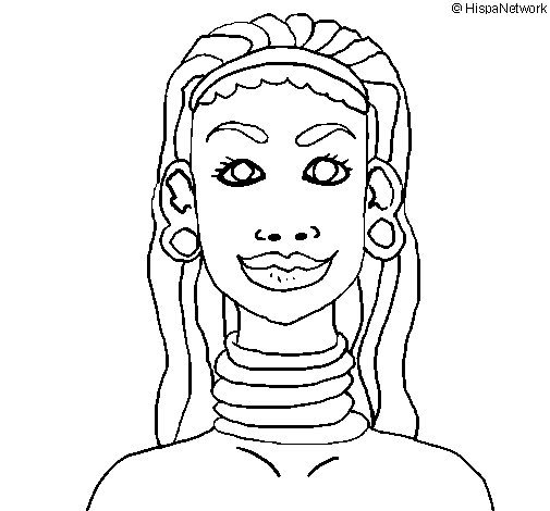 Dibujo de Mujer jirafa para Colorear  Dibujosnet