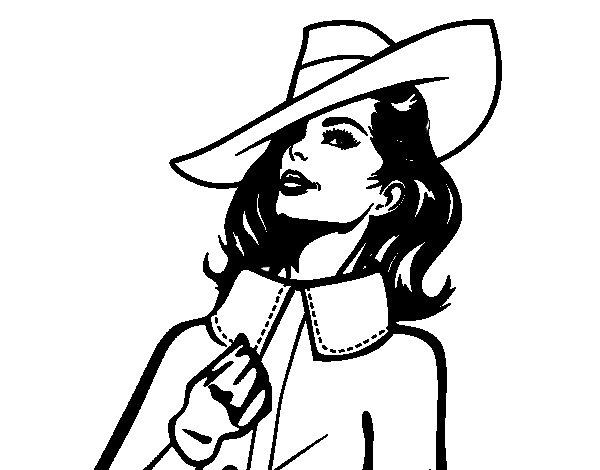 Dibujo de Mujer sofisticada para Colorear - Dibujos.net