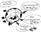 Dibujo de Mundo contaminado