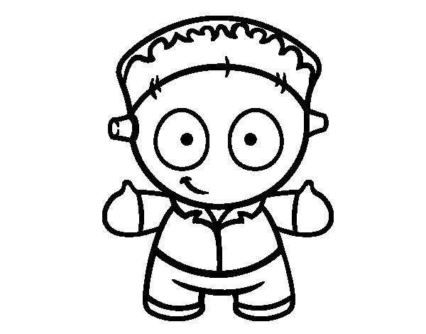 Dibujo de Muñeco de Frankenstein para Colorear