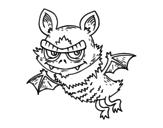 Dibujo de Murciélago de Halloween para colorear