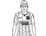 Dibujo de Neymar Jr. para colorear