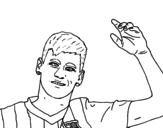 Dibujo de Neymar saludando para colorear