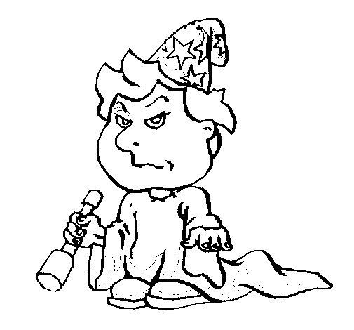 Dibujo de Niño mago para Colorear