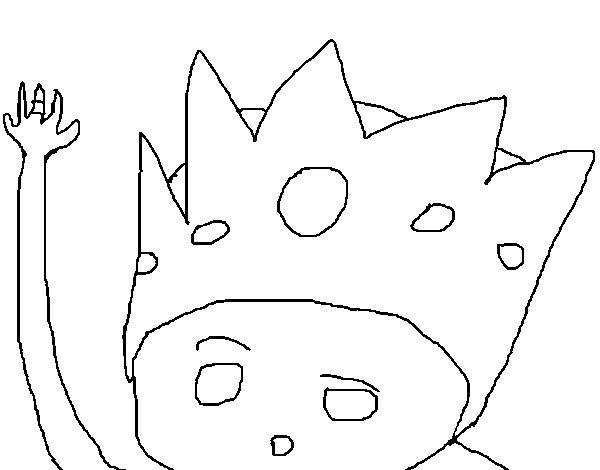 dibujos para colorear rey mago gaspar eshellokidscom. dibujo de rey ...