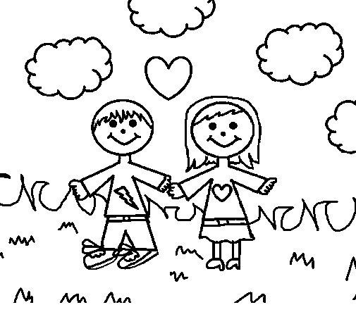 Dibujo de Niños en el parque para Colorear