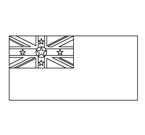 Dibujo de Niue para Colorear