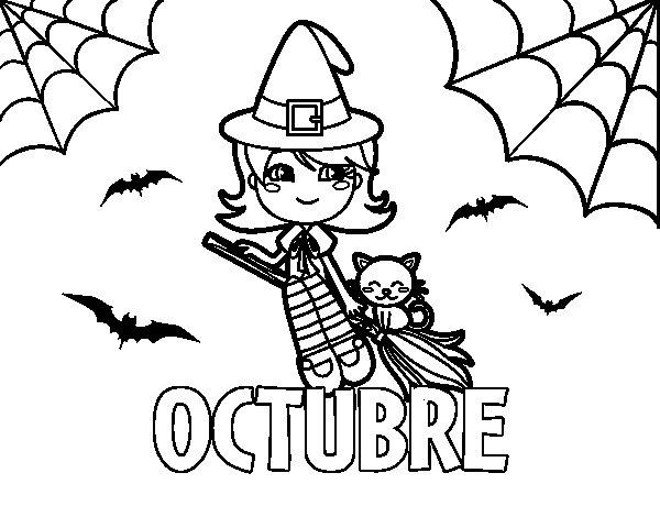 Dibujo de Octubre para Colorear