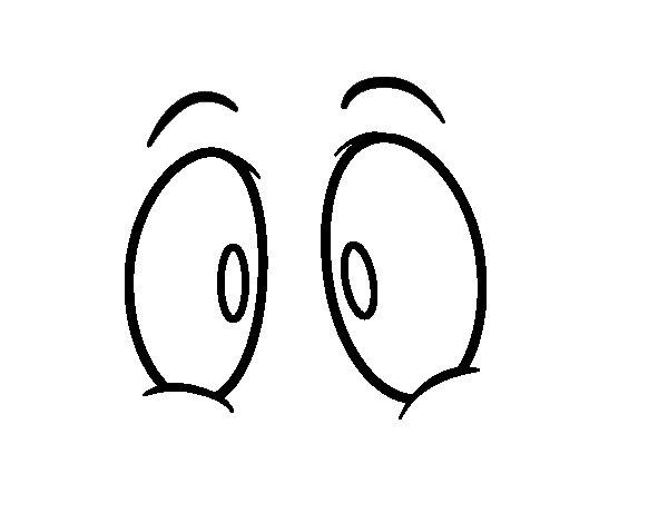 Dibujo de Ojos humanos para Colorear