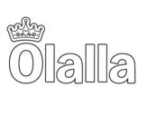 Dibujo de Olalla para colorear