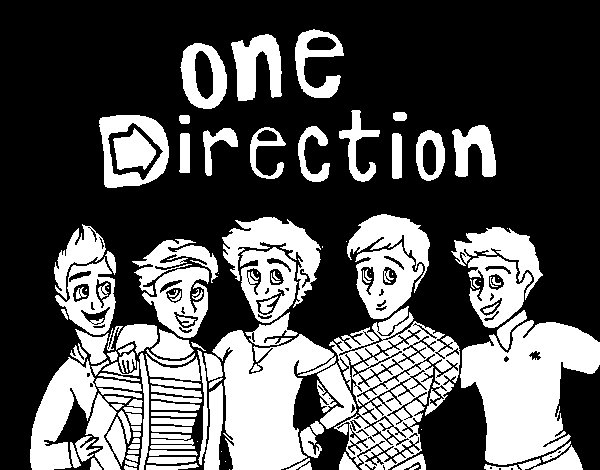 Dibujo de One Direction 3 para Colorear