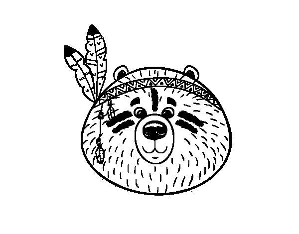 Dibujo de Oso indio para Colorear
